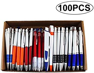 SKKSTATIONERY 100 Pcs Wholesale Ballpoint Pens, Assorted Ballpoint Pens, Retractable, for Office Supplies, Big Bulk Lot.