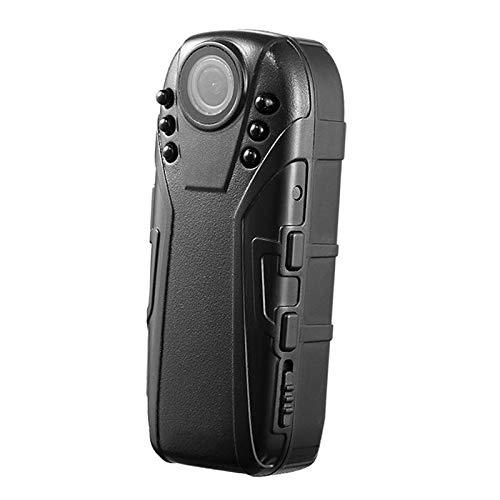 Shiwaki Mini videocámara corporal, Mini grabadora de vídeo HD gran angular portátil 1080P grabación pequeña cámara de seguridad para el hogar y la Oficina