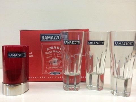 Ramazzotti Likör Geschenkset 6 Gläser + Windlicht