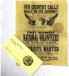 CIVIL WAR Limited price sale RECRUITING IN 67% OFF of fixed price PARCHMENT BROOKLYN
