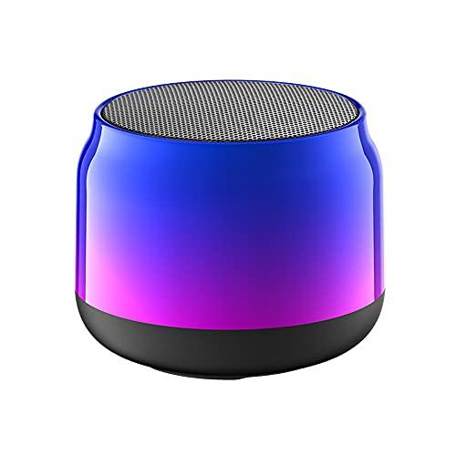 Altavoz Bluetooth, Altavoz Estéreo Portátil, Potente Efecto De Triple Bajo, Tiempo De Reproducción A Prueba De Agua 24 Horas con Alimentación Móvil Y Manos Libres (Color : Blue)