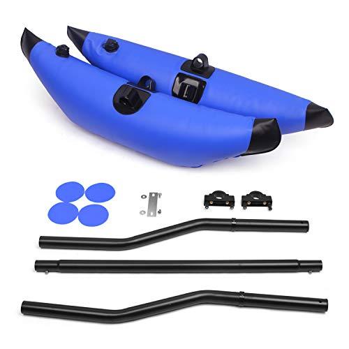 Lixada Estabilizador de Kayak Inflable de PVC con Dispositivo Flotante de Brazo Estabilizador Flotante de Pesca en Kayak