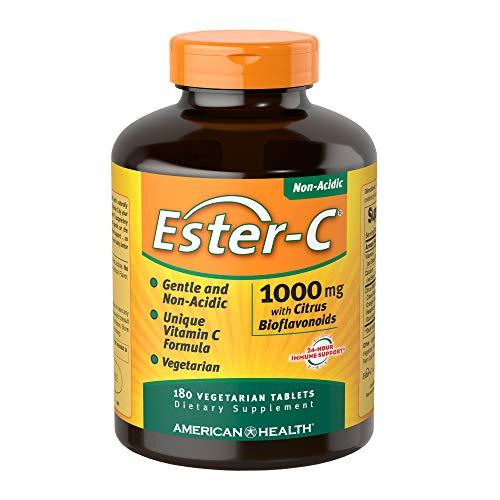 American Health, Ester C mit Zitrus Bioflavonoiden, 1000mg, 180 Veg. Tabletten