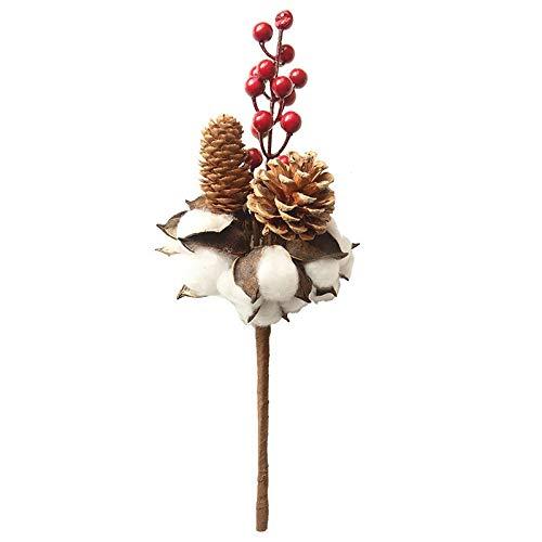 Manyao Dekorative Getrocknete Blumen Künstliche Baumwolle Blume AST Simulations-Blumen-DIY Hochzeit Dekoration for Zuhause-Party-Fake Flowers (Color : 1pc)