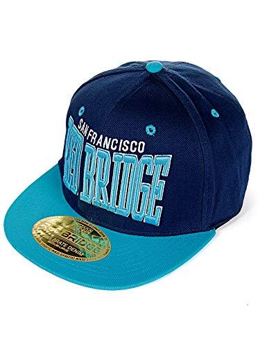 Red Bridge Casquette de Baseball pour Homme brodée des Mots San Francisco et Red Bridge Bleu et Turquoise