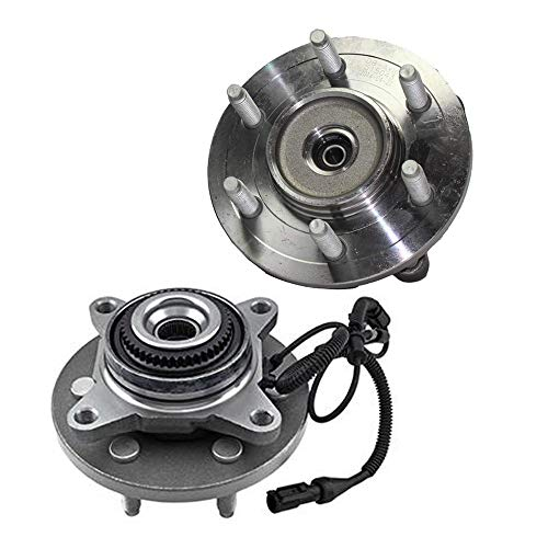 Detroit Axle - Pair 4WD Front Wheel Bearing and Hub Assembly for 2009 2010 Ford F-150 2003 2004 2005 2006 Lincoln Navigator