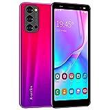Smartphones, Dual Sim Mobile Smartphone 5.5 Inch Quad-Core 4 Go ROM, Dual Caméras, Bluetooth, GPS, Wi-Fi Cell Phones (Reno4-Rose)