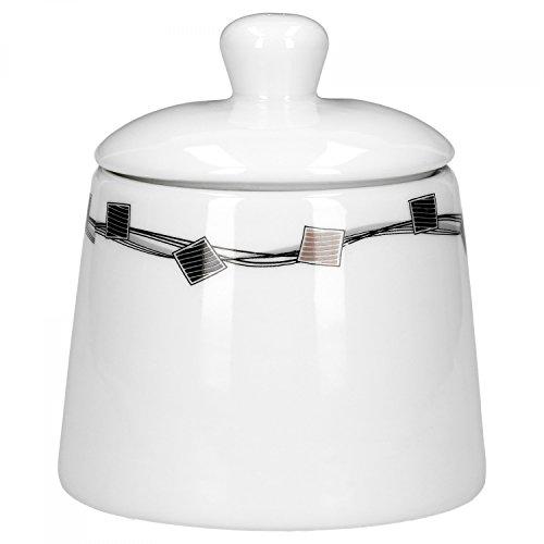 Zuccheriera Casetta 300ML porcellana bianca con decori
