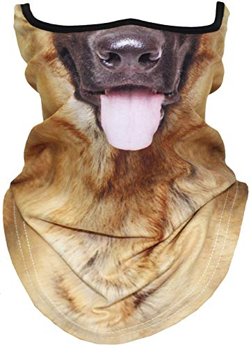 3D Animal Neck Gaiter Warmer Dog Face Mask for Skiing Cycling Motorcycling Halloween Party(21)