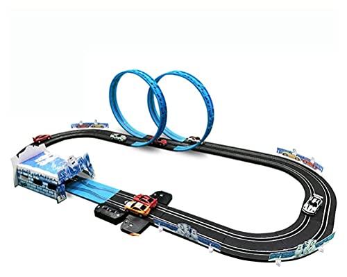 YAMMY 4.3M Track Racing Toy Coche de riel eléctrico para niños Tren...