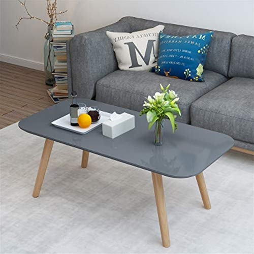 zhangmeiren Small Apartment Living Room Coffee Table Rectangular Coffee Table Paint Simple Mini Coffee Table (Color : Gray, Size : Large)
