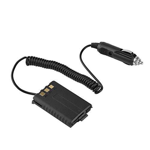 Shipenophy Adaptador de Cargador de Coche Negro Cargador de Coche de 12-14,4 V Compatible con UV-5R / UV5RA + / UV5RB para Walkie Talkie para Radio bidireccional