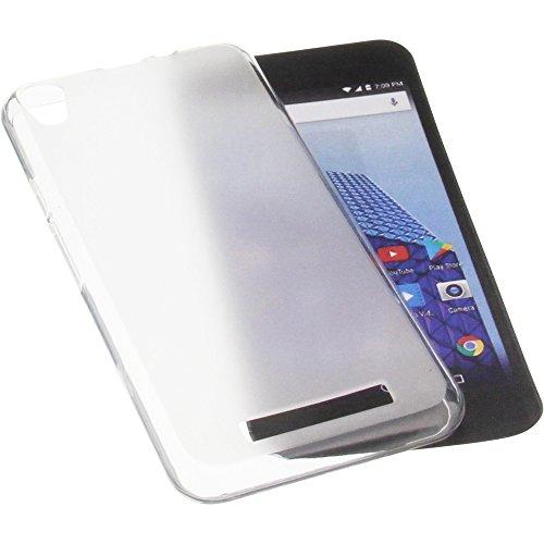 foto-kontor Tasche für Archos Access 50 4G Gummi TPU Schutz Handytasche transparent weiß