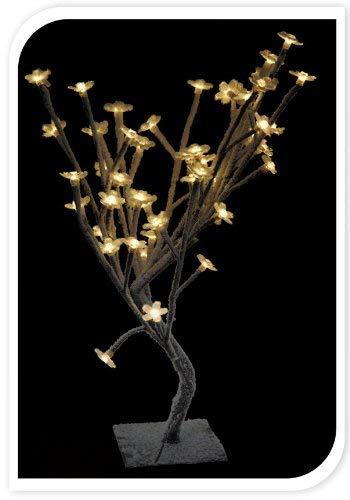 Spetebo Enneigement Arbre de Fleurs de Cerisier avec 48 LED Blanc Chaud
