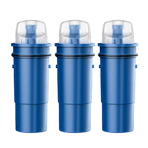 AQUA CREST NSF Certified PPF951K Reduce Lead Pitcher Water Filter, Compatible with Pur Pitchers PPT711W, PPT711R, PPT111W, PPT111R and CRF-950Z Water Filter (Pack of 3)