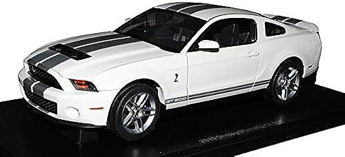 AUTOart Ford Mustang GT Coupe Weißs Silber V 2. Generation 2009-2014 72911 1 18 Modell Auto mit individiuellem Wunschkennzeichen