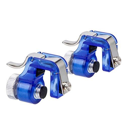 Boutons de cible en métal Boutons de prise de vue rapide Contrôleurs de jeu de téléphone PUBG Outils d'aide Artefact mangeur de poulet - Bleu