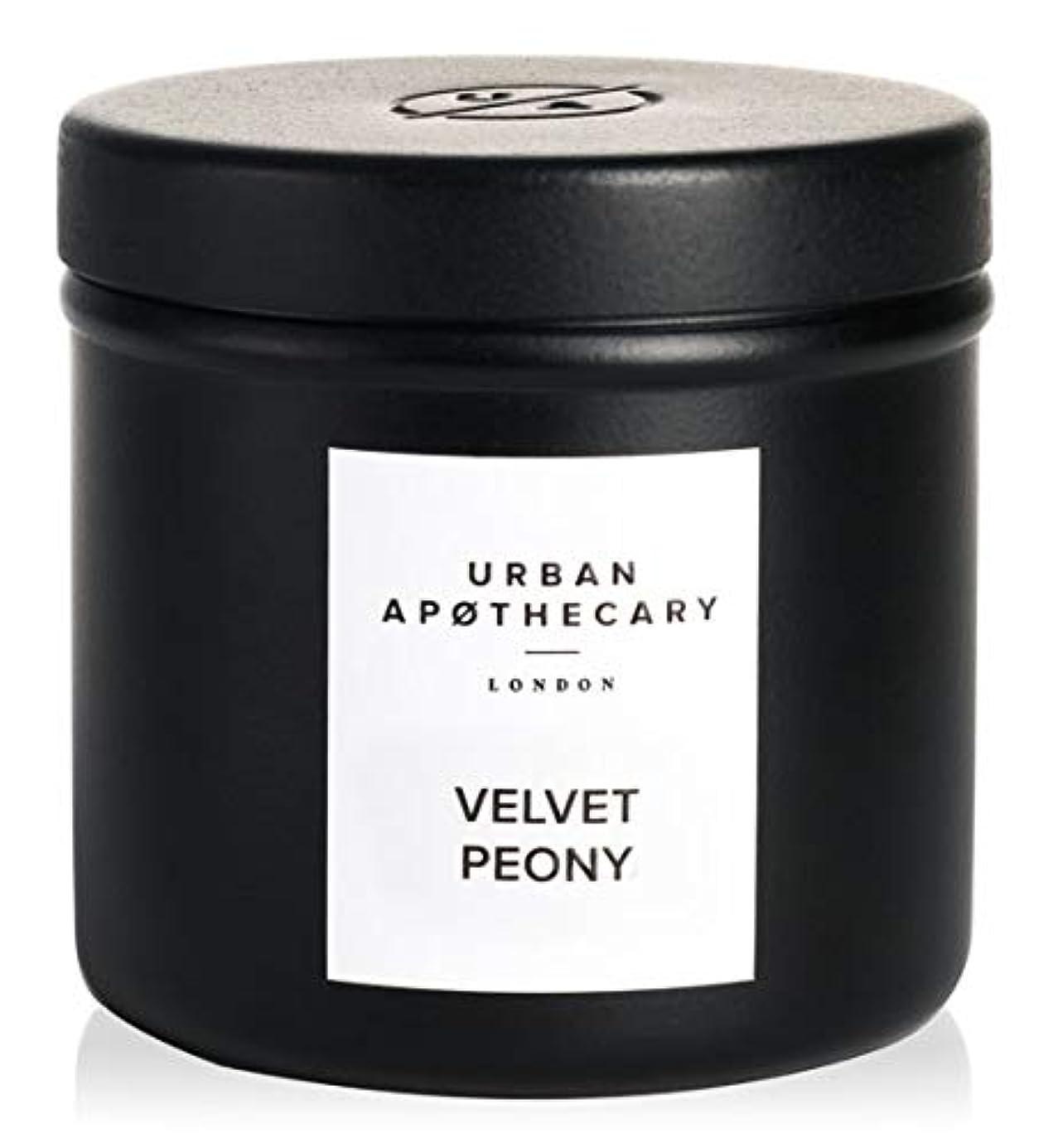 電球せせらぎ原油URBAN APOTHECARY トラベルキャンドル VELVET PEONY 175g