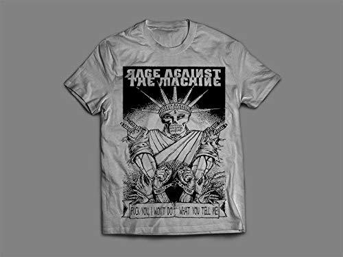 Camiseta/Camisa Masculina Rage Against The Machine Ratm Tamanho:G;Cor:Cinza