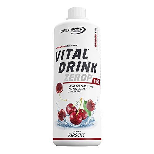 Best Body Nutrition Vital Drink ZEROP - Kirsche, zuckerfreies Getränkekonzentrat, 1:80 ergibt 80 Liter Fertiggetränk, 1000 ml