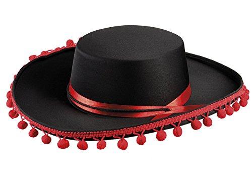Boland 04264 - Hut Espagnol deluxe, Spanier, schwarz, Torero, Kopfbedeckung, Accessoire, Mottoparty, Karneval