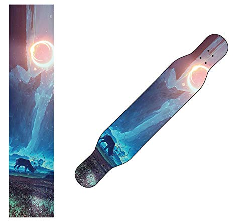 Papel de aranceles de monopatín, 122x26cm o 23x84cm Papel de lija de monopatín, impermeable y antideslizante, papel de lija, colorido Scooter Monopatín Griptape Griptape ( Color : H , Size : 23x84cm )