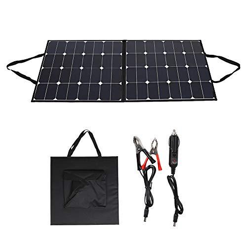 Monokristalline zonnepaneel met kabelklem en auto-oplader 120 W 12 V draagbaar zonnepaneel Folding Solar Panel Complete set voor outdoor camping campers en campers