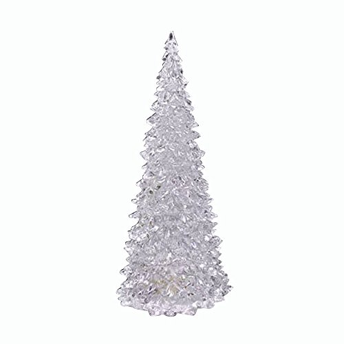 WARMWORD Árbol de Navidad, Mini árbol de Pino de Navidad Artificial con Luces de Cadena LED y Adornos Cambio de Color Luz LED Lámpara Fiesta casera Decoración Boda
