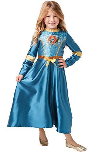 Rubies Disfraz oficial de Princesa de Disney con lentejuelas de Mérida clásico, tamaño pequeño de 5 a 6 años, altura de 116 cm, multicolor, medium (640822M)