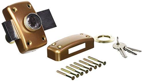 1209 Verrou Eco 5 Goupilles a bouton Cylindre de 40 mm diamètre 23 mm Doré