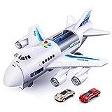 Airplane Toys Car Set, Modelo de avión de simulación con Luces y música para niños Juguetes de educación temprana