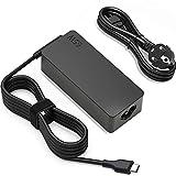 65w USB Tipo C Cargador PD Adaptador para Lenovo ThinkPad Yoga 720 720-13IKB 730730-13IKB 910910-131KB C930 C940 C740 S730 730S Chromebook 100e 300e 500e c330 c340 Ordenador Portatil Alimentacion