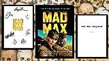 Mad Max Fury Road Guión de película con autógrafo y póster de película, regalo ideal para el hogar para hombres y mujeres