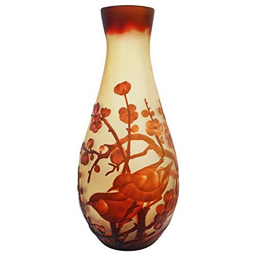 aubaho Vase Replika nach Galle Gallé Vögel Glas Antik-Jugendstil-Stil Kopie c11