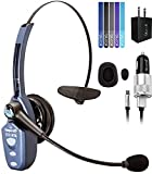 VXI BlueParrott B250-XTS Bluetooth Headset Bundle with Blucoil Car Charger with Micro USB Cable, Blucoil USB Wall Adapter and Blucoil 5-Pack of Reusable Velcro Cable Ties