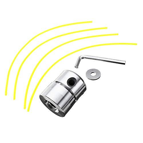 Wishwin Universale Alluminio Trimmer Head, Strimmer Teste con Strimmer Line Set falciatrice Accessori