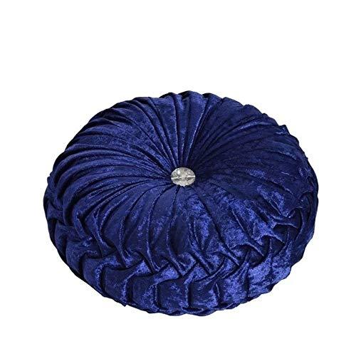 FKIHK Sitzkissensamtstarkes Futonkissen/atmungsaktives Spielkissen/Zenmatte/schwimmende Fensterauflage/Yogamatte/rundes Kissen (34 * 14cm), Farbe 4