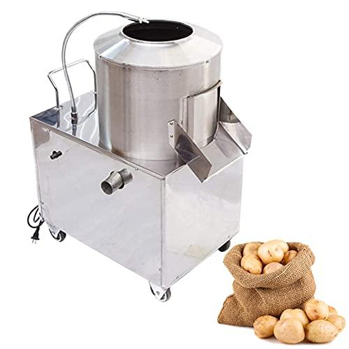 Electric Potato Peeler 110V 60HZ 1500W Commercial Potato Peeler 15-20KG /time Automatic Potato Washer Caster Wheels Stainless Steel Electric Peeler For Potato Taro Ginger 70x55x85cm