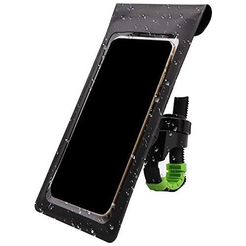 Bayda - Soporte de teléfono impermeable para bicicleta con rotación de 360 grados