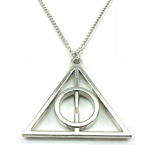 HARRY POTTER - Collana con ciondolo, motivo: i doni della morte, colore: argento e Acciaio inossidabile, colore: argento, cod. HP-deadlyhallows-sil-B