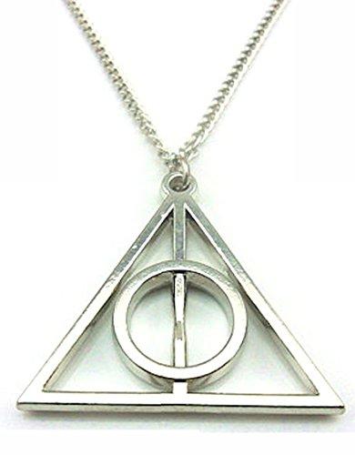 Heiligtümer des Todes silber Farbe Anhänger Kette Halskette Harry Potter inspiriert