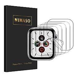 【5枚組】 NIMASO Apple Watch series 6 / SE / 5 / 4 用 40mm フィルム アップルウォッチ用 液晶保護フィルムの商品画像
