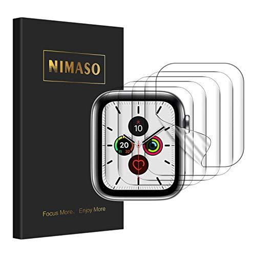【5枚組】 NIMASO 液晶 保護 フィルム Apple Watch series 6 / SE / 5 / 4 対応 40mm アップルウォッチ 用