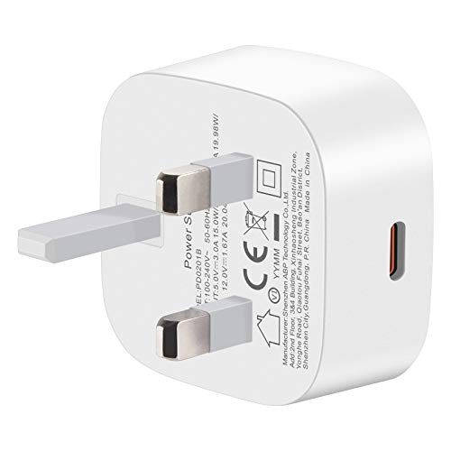 Nestling 20W USB C Fast Charger Plug Type C PD Charger iPhone 12 Charger Power Delivery Wall Adapter for iPhone 11 Pro Max, iPad 2020 etc(Cable Not Included)