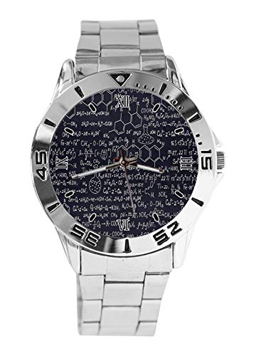 Química molécula fórmula moda para hombre relojes deportivos reloj para mujer casual correa de acero inoxidable reloj analógico de cuarzo