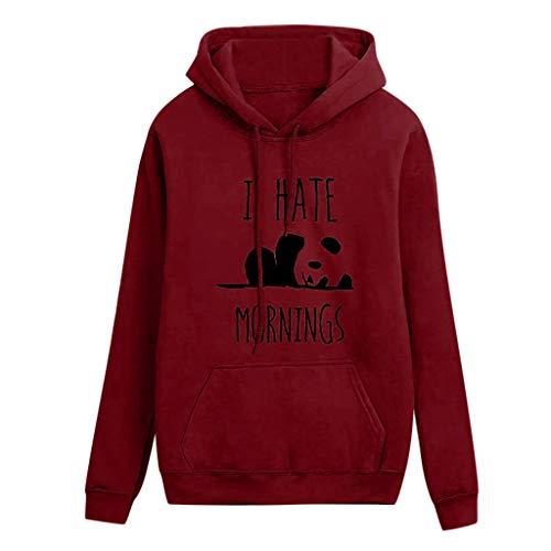 Damen Kapuzenpulli, pitashe Teenager Mädchen Pullover Hoodie Pulli Sweatshirt Streetwear Langarm Kapuzenpullover mit Rose Stickerei Tops Bluse Brief Kapuzen Sweatshirt