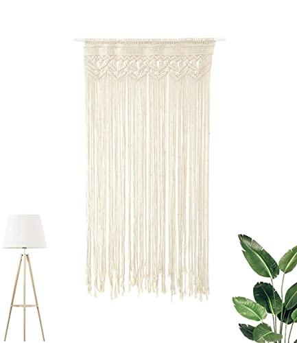 Macrame Wandbehang ,gewebt Tapisserie,makramee türvorhang handgewebte b?hmische Tapisserie für Raumteiler, vorhang tür, makramee gardine90*180cm-P1