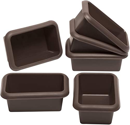 Lurch 85078 FlexiForm Mini Batzen 6er Set / kleine Brotbackformen aus 100% BPA-freiem Platin Silikon, Braun, 9,1 x 5,6 cm