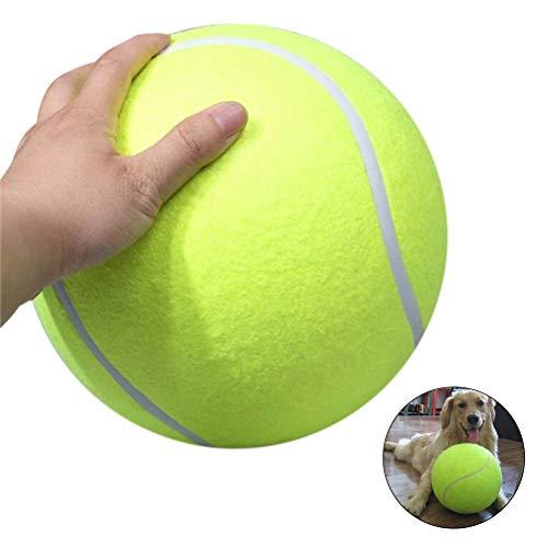 Sahgsa Hundeball aus Naturkautschuk Hunde Ball 24cm Riesen Tennisball Pet Aufblasbarer Tennisball Chew Toy