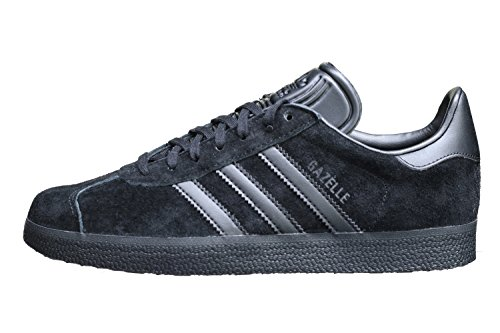 adidas Gazelle, Scarpe da Ginnastica Basse Uomo, Nero (Black Cq2809), 43 1/3 EU
